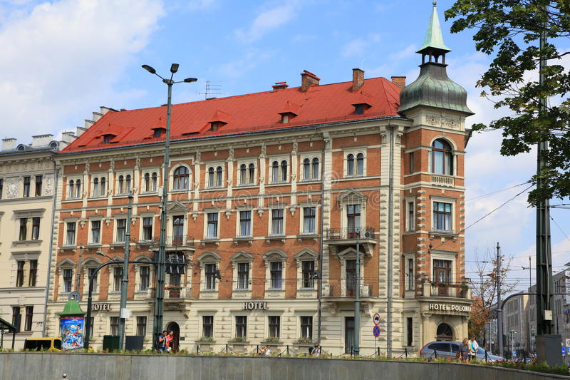 Historical building in city Cracow, Poland stock photography
