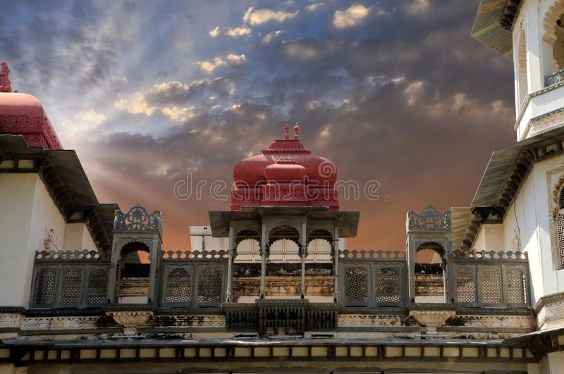 Historical Building in Gulab Bagh, Udaipur, Rajasthan, India. Historical Old Building in Gulab Bagh, Udaipur, Rajasthan, India royalty free stock images
