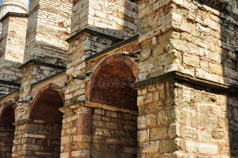 Historical Building Of Hagia Sophia. Mosque in Istanbul - Turkey royalty free stock photography