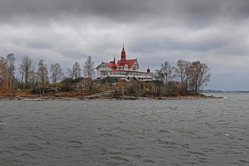 Historical building. On luoto near Helsinki Finland royalty free stock images