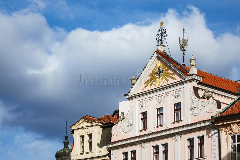 Historical building in Prag, Czech Republic.  stock photography