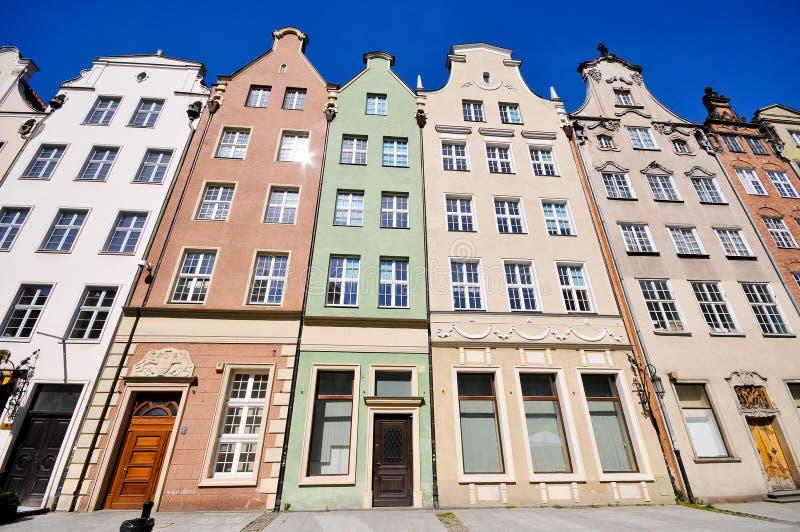 Historical buildings on Dluga street in Gdansk