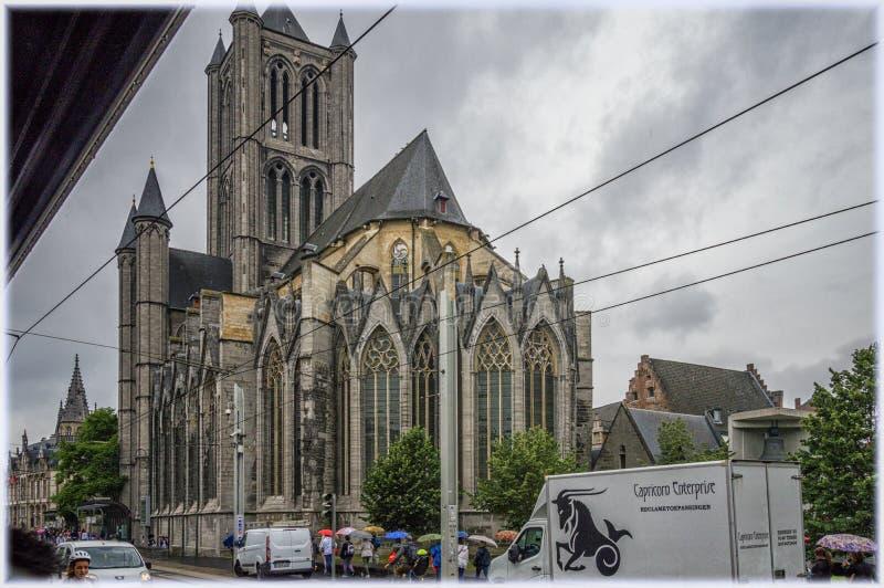 Church of St Nicolas, Ghent, Belgium royalty free stock photo