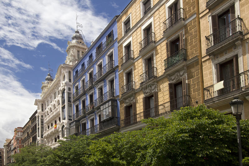 Download Historical Buildings In Madrid, Spain Stock Image   Image Of  Windows, Spanish: