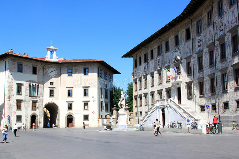 Historical buildings at Piazza dei Cavalieri, Pisa royalty free stock images