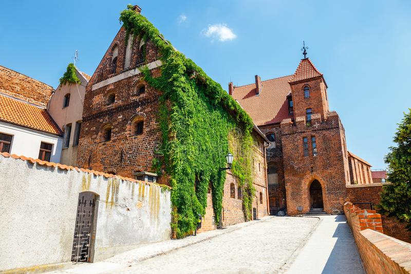 Historical buildings in polish medieval town Torun in Poland. Torun is listed among the UNESCO World Heritage Sites. View of historical buildings in ish medieval royalty free stock photography