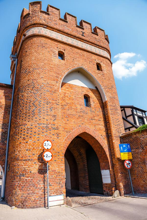 Historical buildings in polish medieval town Torun in Poland. Torun is listed among the UNESCO World Heritage Sites. View of historical buildings in ish medieval stock photo