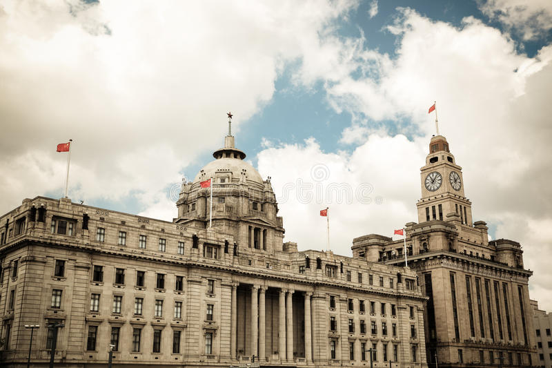Historical Buildings In Shanghai Royalty Free Stock Photo