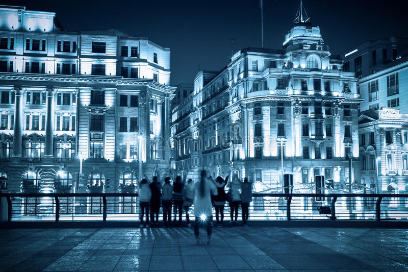 Download Historical Buildings In Shanghai At Night Stock Photo - Image: 25462642