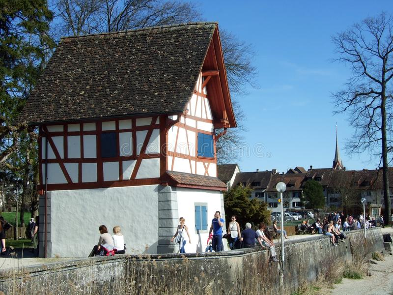 Historical buildings and traditional architecture, Stein am Rhein royalty free stock image