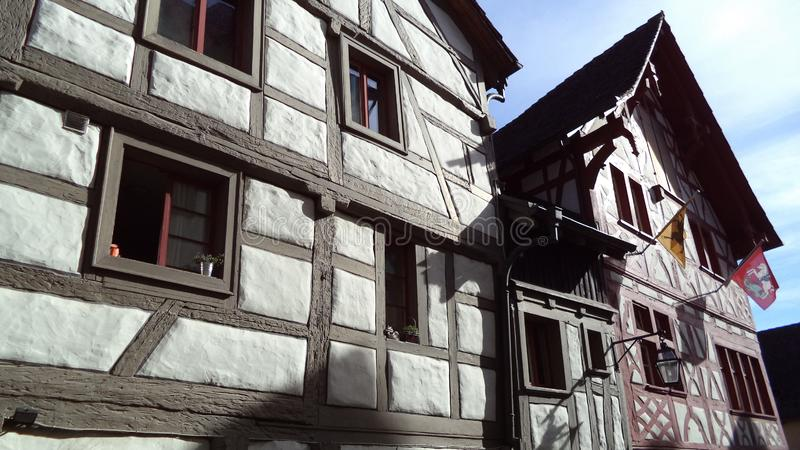 Historical buildings and traditional architecture, Stein am Rhein royalty free stock photos