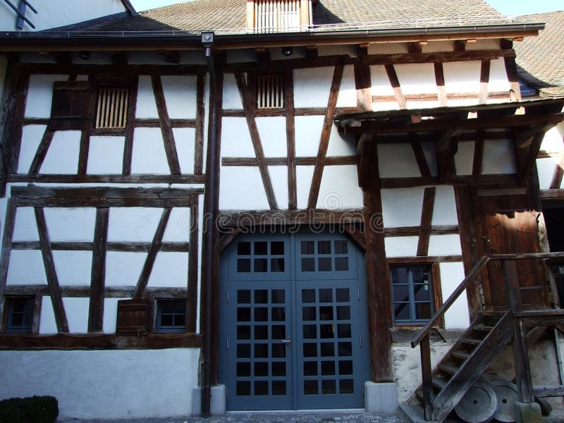 Historical buildings and traditional architecture, Stein am Rhein. Canton of Schaffhausen, Switzerland stock photography