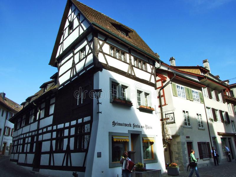 Historical buildings and traditional architecture, Stein am Rhein stock photography