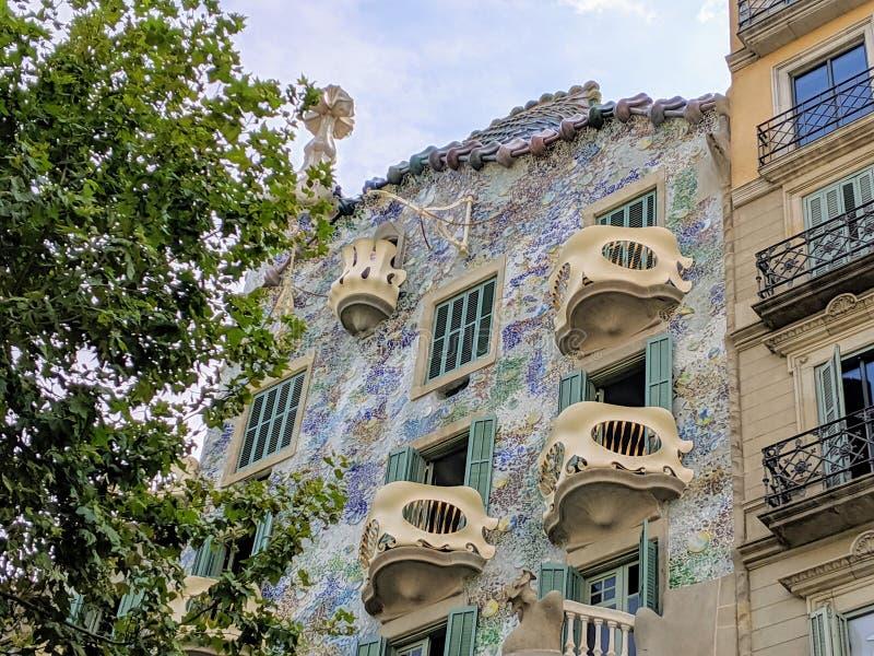 Casa Batllo in Barcelona, Spain. Historical Casa Batllo in Barcelona. Photo taken on: August, 2019 royalty free stock image