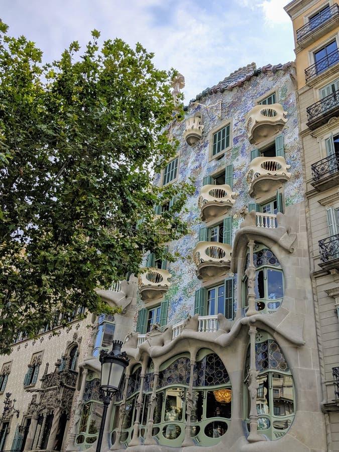 Casa Batllo in Barcelona, Spain. Historical Casa Batllo in Barcelona. Photo taken on: August, 2019 stock images