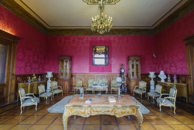 The historical castle - Chapultepec Castle royalty free stock photography