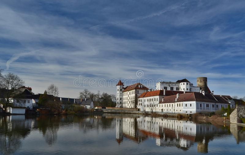 The historical castle complex, the town of Jindrichuv Hradec, the southern Bohemia royalty free stock image