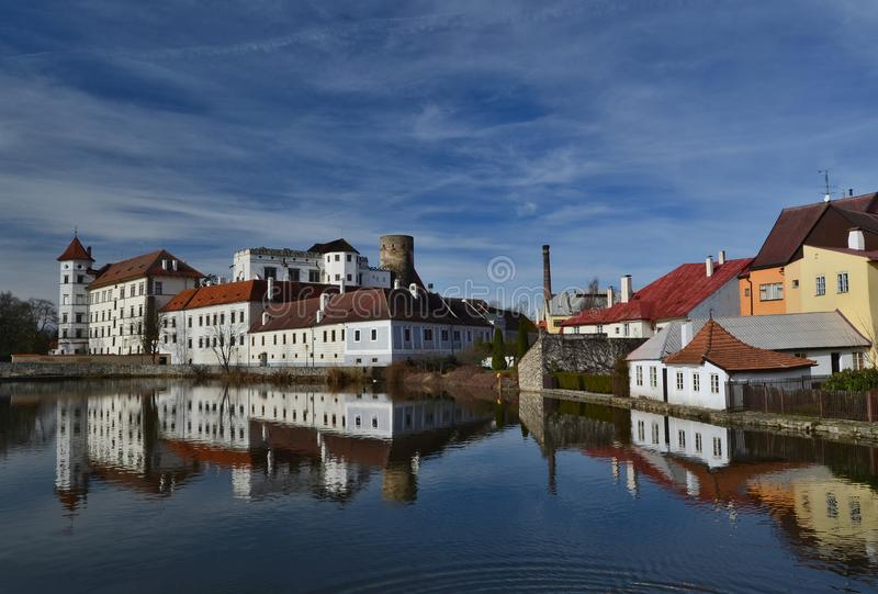 The historical castle complex, the town of Jindrichuv Hradec, the southern Bohemia. The Czech Republic royalty free stock images