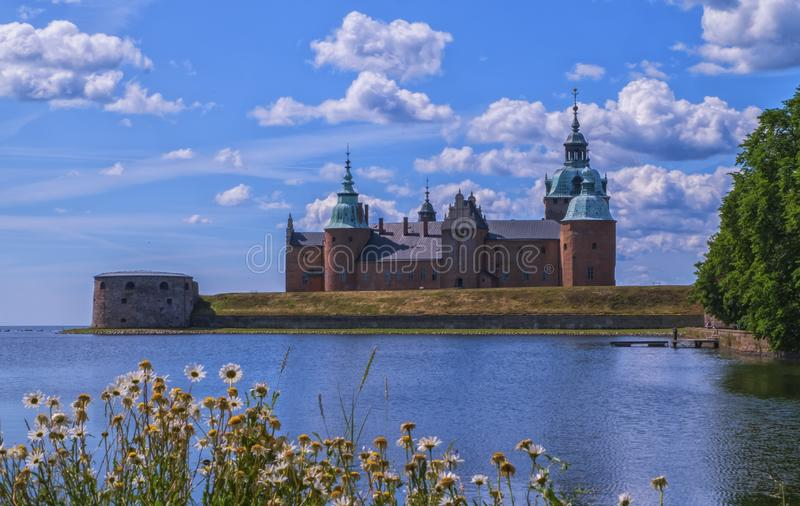 Historical castle in Kalmar by day, Sweden. Historical castle in Kalmar by beautiful day, Sweden stock photos