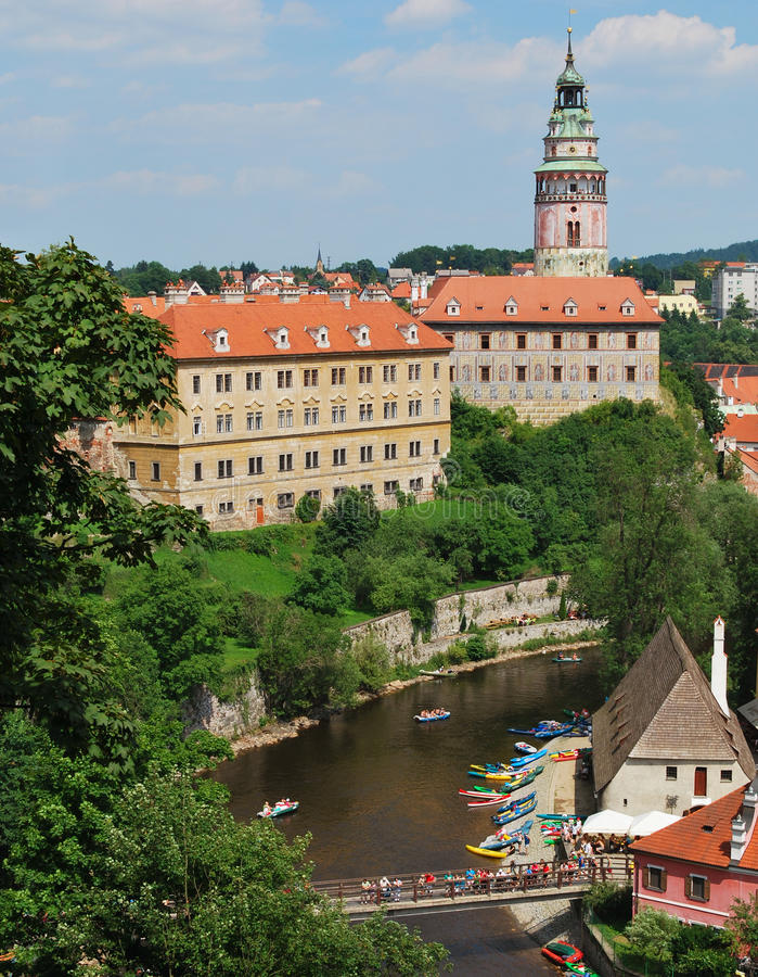 Historical Center of Cesky Krumlov, Czech Republic royalty free stock photo