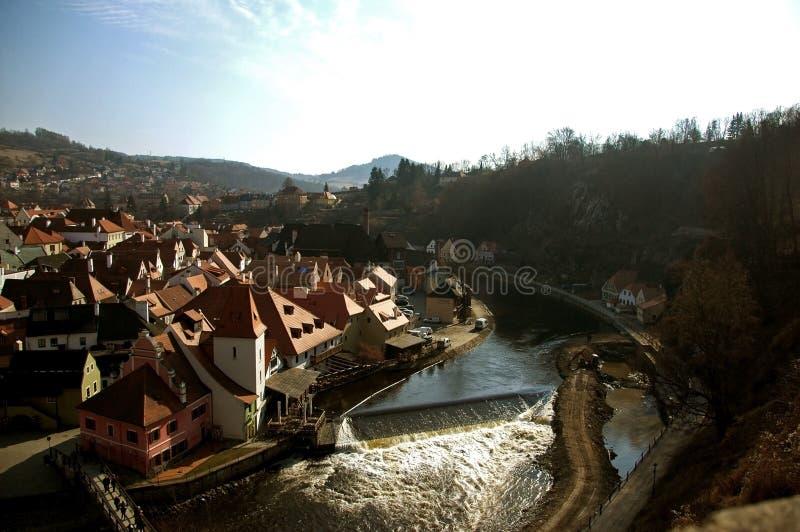 Historical Center of Cesky Krumlov, Czech Republic - Unesco World Heritage royalty free stock image