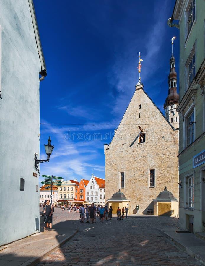 Historical center of Tallinn, Estonia royalty free stock photos