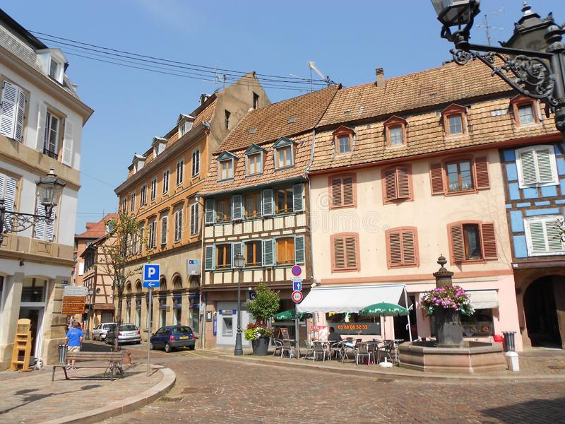 In the historical centre of Barr, little alsatian town royalty free stock images