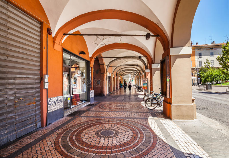 Historical centre of Piacenza. Italy royalty free stock photo
