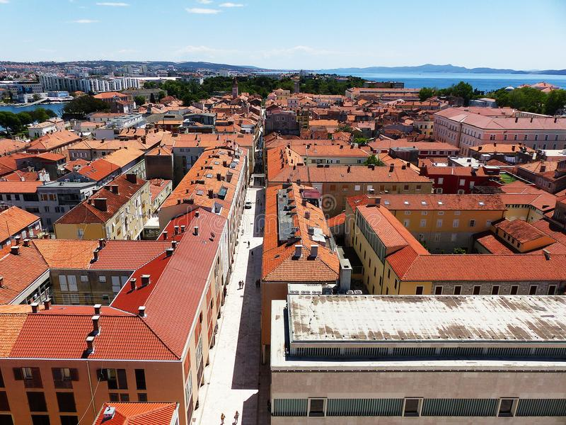 Historical centre in Zadar stock images