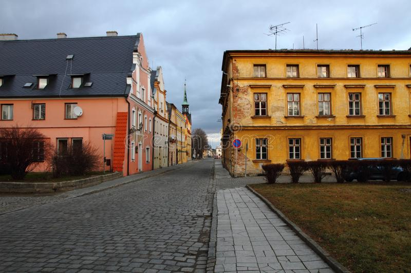 Historical centrum in Vidnava city. At czech republic royalty free stock photography