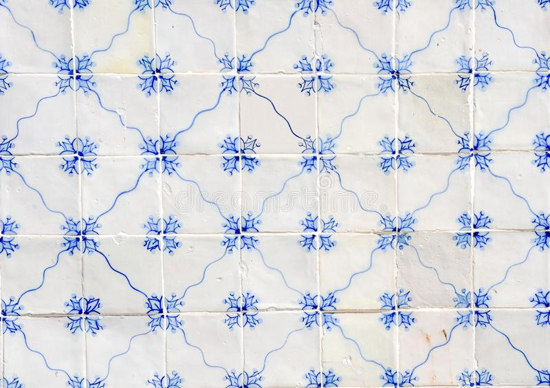 Historical ceramic tiles, wall decoration in Portugal stock photography