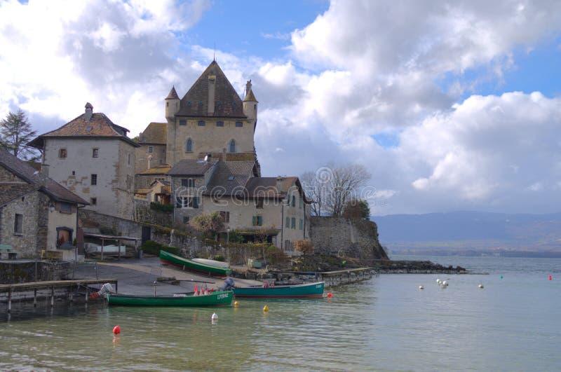 Chateaux de Yvoire, France royalty free stock image