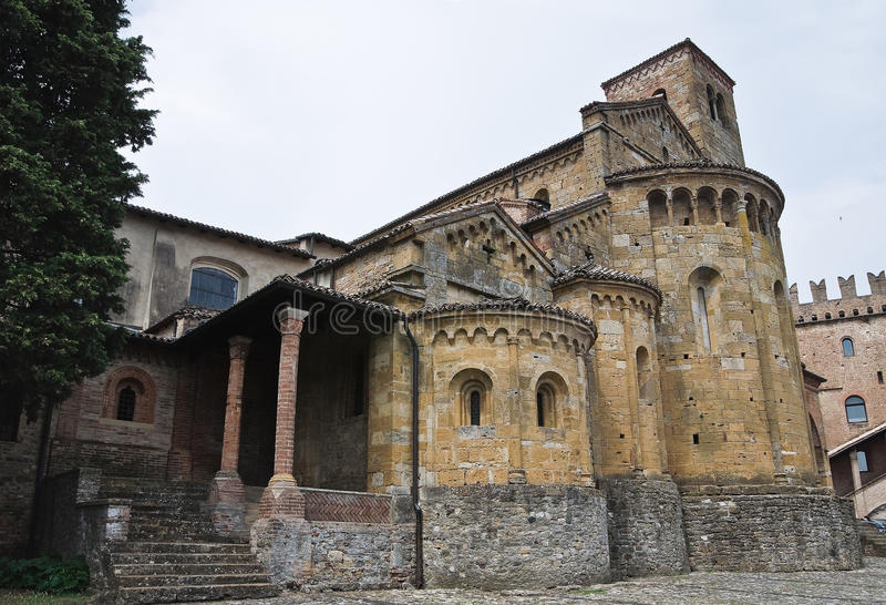 Historical church of Emilia-Romagna. Italy. stock images