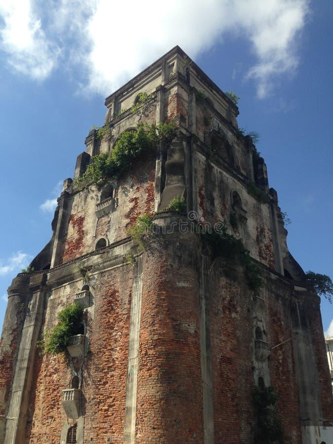 Historical Church in Laoag royalty free stock photos