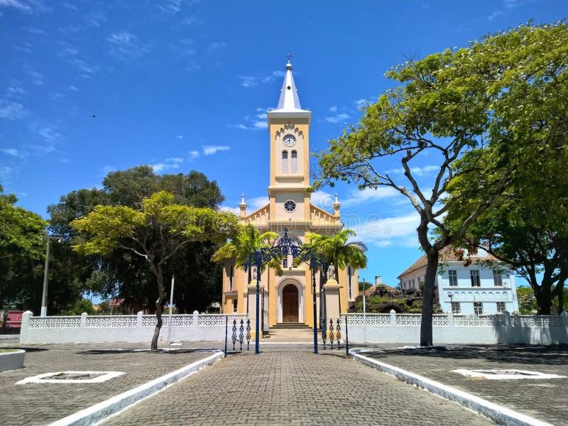 Historical church in Quissama city, Rio de Janeiro Brazil royalty free stock photography