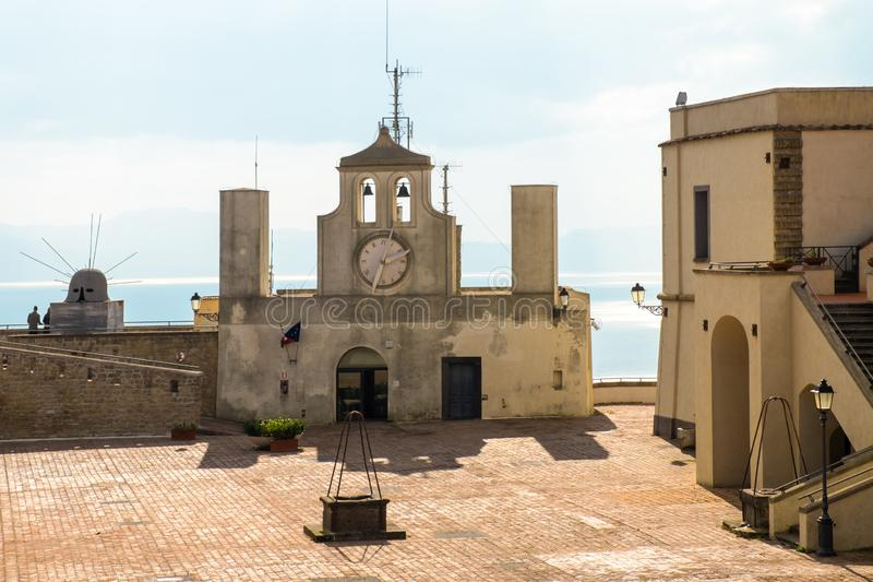 Historical church Sant`t Erasmo in fortress Sant`Elmo in Naples Italy. royalty free stock image