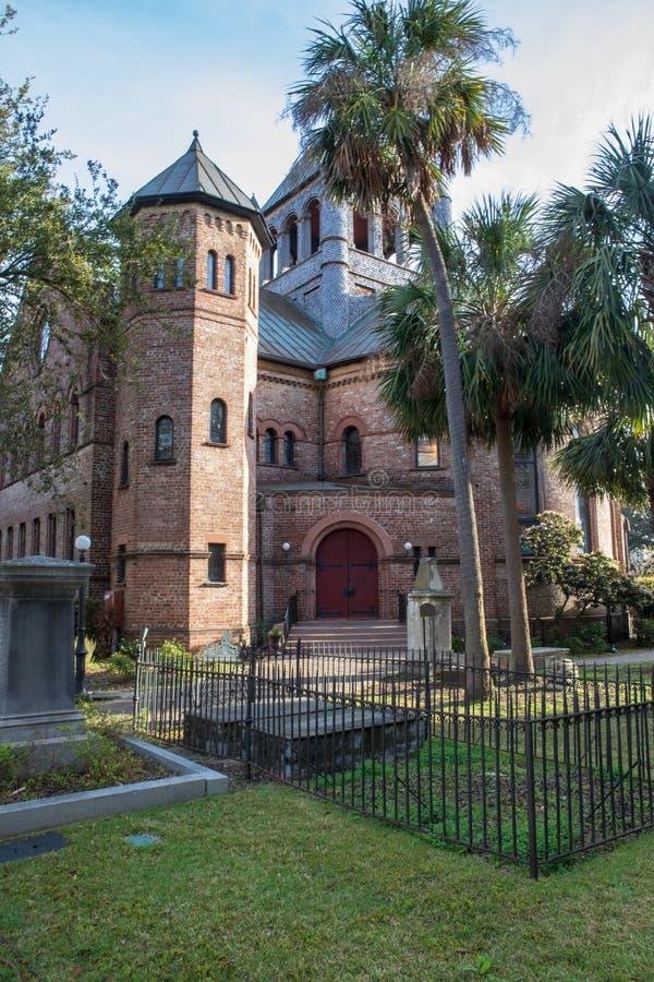 Circular Congregational Church Charleston South Carolina. The historical Circular Congregational Church on Meeting Street in downtown Charleston, South Carolina royalty free stock images