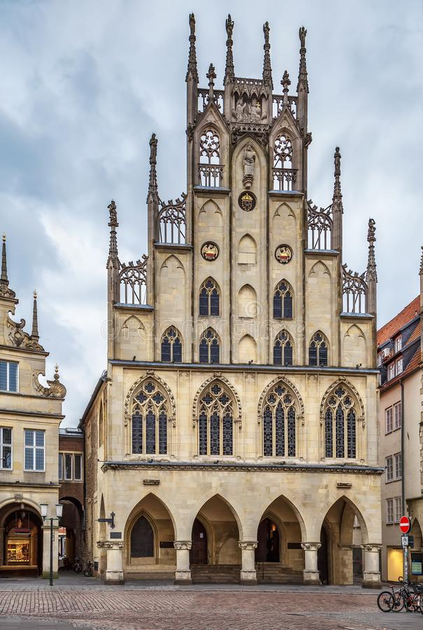 Historical City Hall of Munster, Germany royalty free stock image