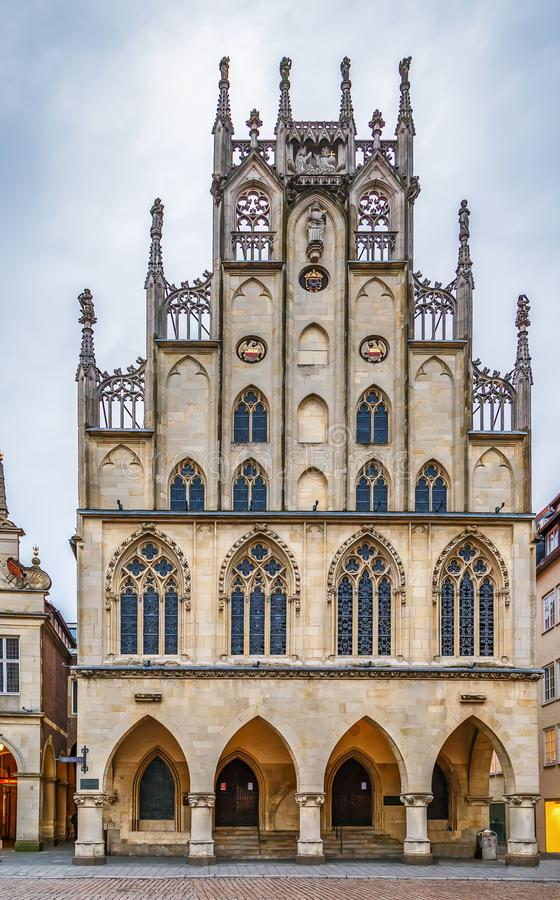Historical City Hall of Munster, Germany royalty free stock images