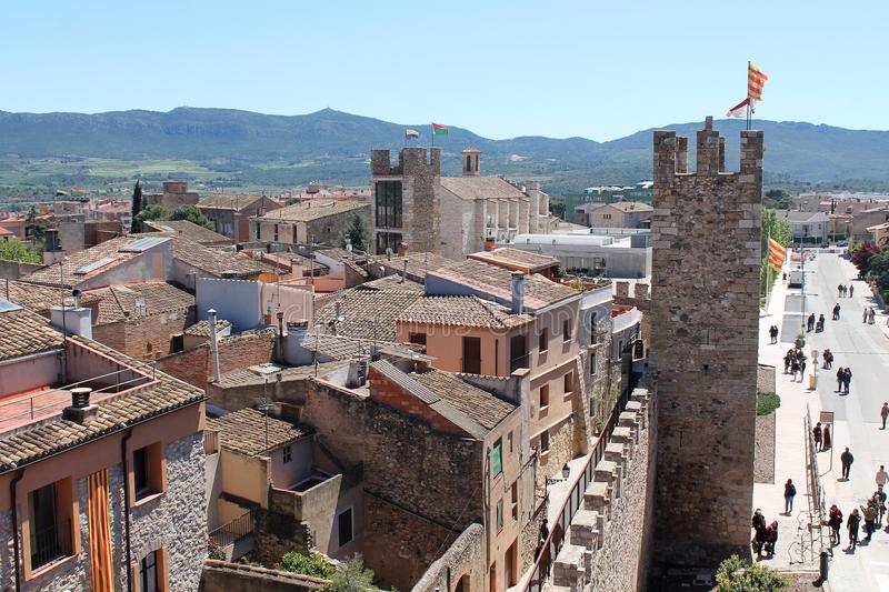 Historical city of Montblanc, Spain stock photography