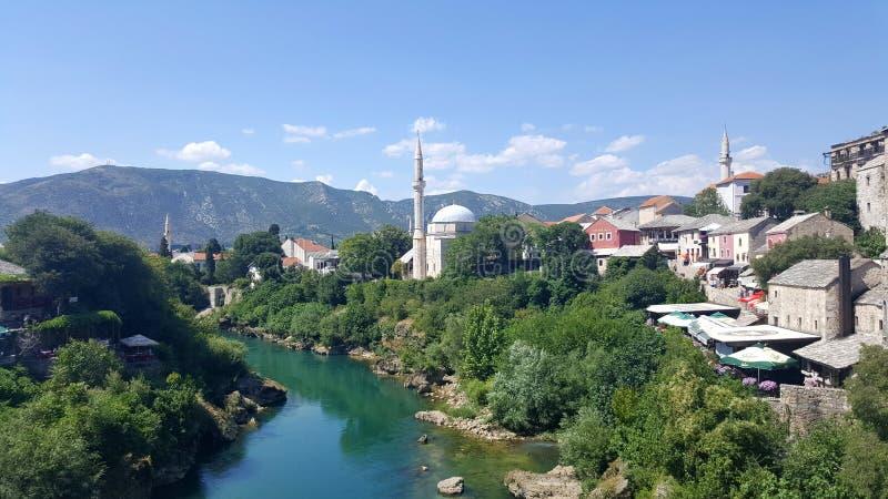 Historical city of Mostar, Bosnia and Herzegovina royalty free stock photography