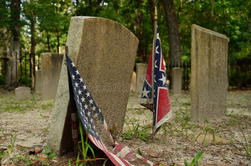 Historical confederate cemetery stock photos