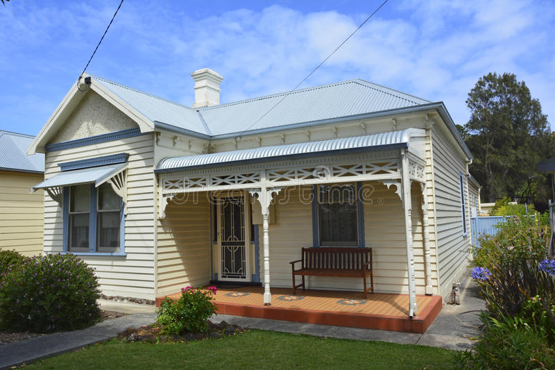 Historical cottage in Port Fairy. stock photos
