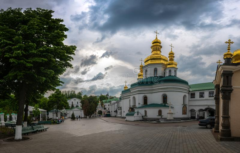 Pechersk lavra Kiev Ukraine church travel Europe stock photo