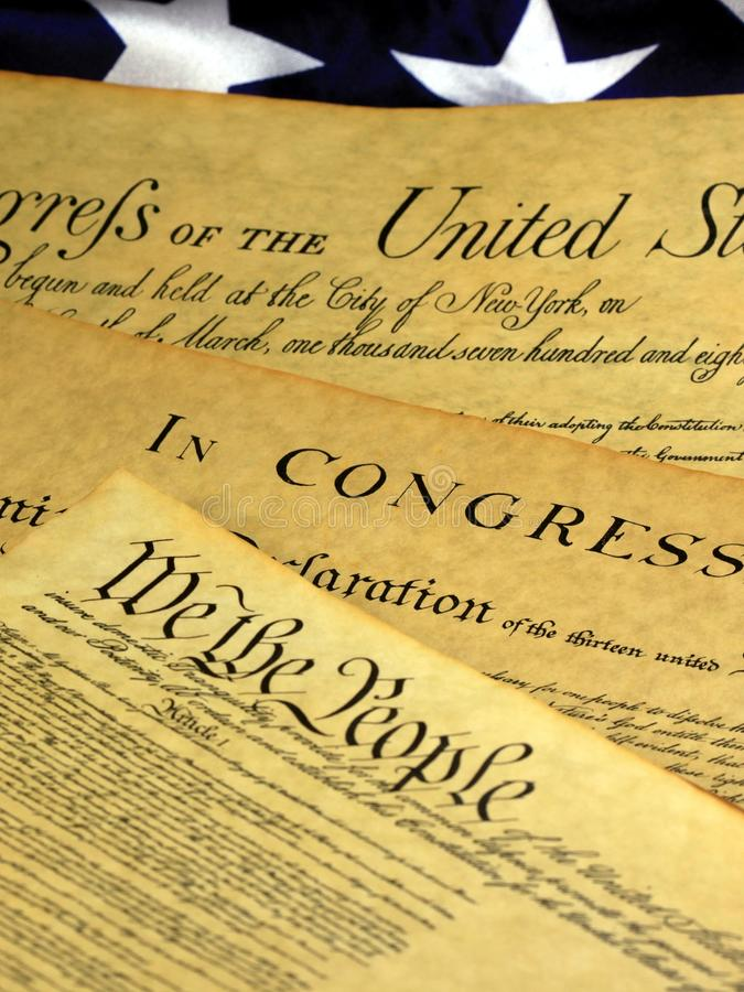 Historical Document United States Constitution Royalty Free Stock Photo
