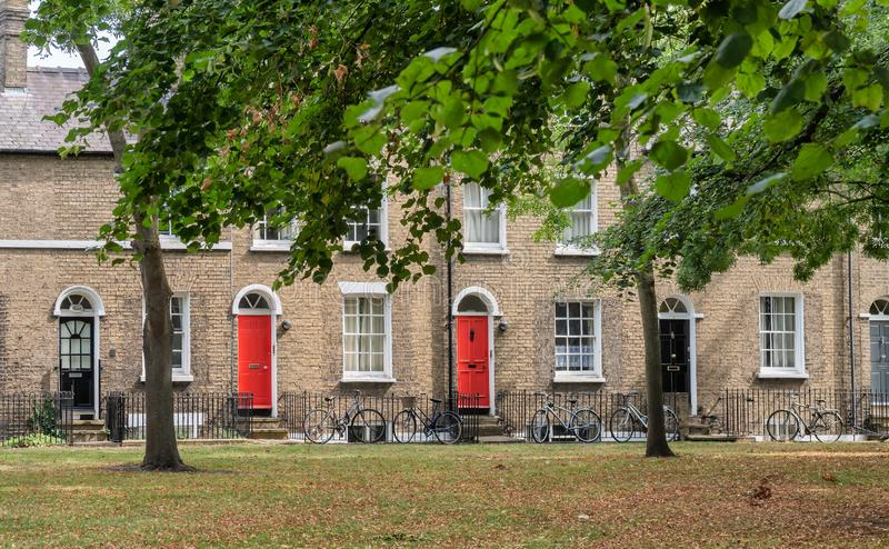 Historical English homes in Cambridge, England. Historical English homes in Cambridge,  England stock photography