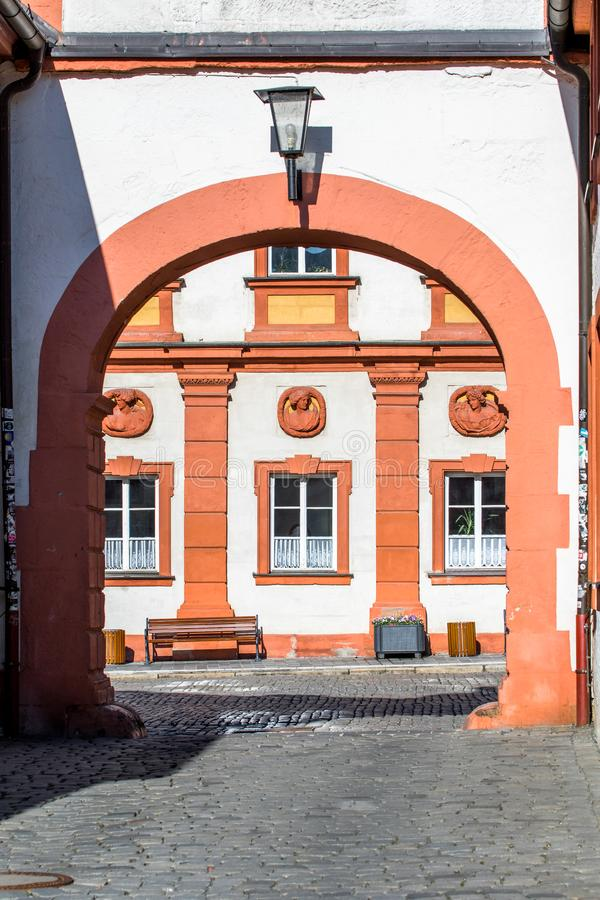 Historical facade - Bayreuth old town stock image