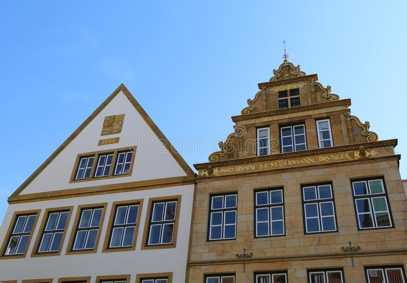 Historical Facades of Old Historic Buildings royalty free stock photos