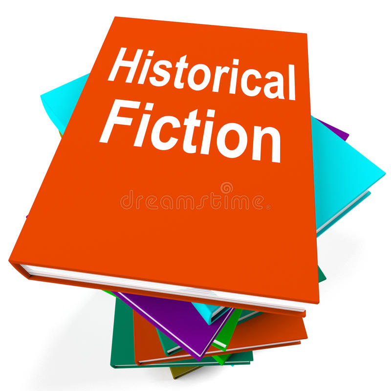 Historical Fiction Book Stack Means Books From History vector illustration