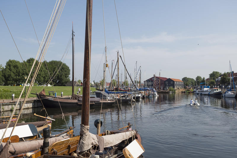 Historical fishing boats Netherlands harbor